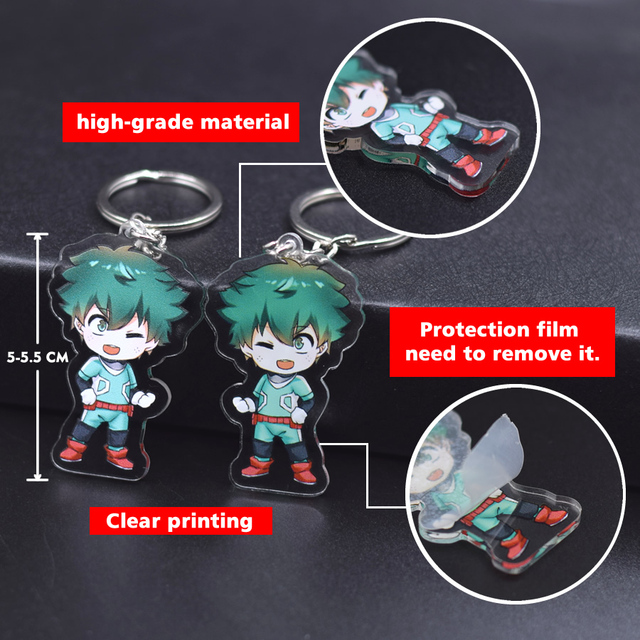 New Cartoon Keychain Demon Slayer/My Hero Academia Key Chain Ring Anime Fairy Tail/ Fire Force Keyring Hot Sales 4