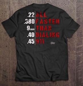 Men Funny T Shirt Fashion tshirt All Faster Than Dialing 911 Shield Republic Women t-shirt(China)