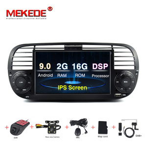 Image 1 - 2G RAM Android 9.0 Car DVD Player Multimedia For FIAT 500 GPS Navigation Audio 4G Wifi DAB+BT TPMS