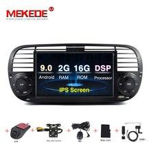 2G di RAM Android 9.0 Car DVD Player Multimediale Per FIAT 500 GPS di Navigazione Audio 4G Wifi DAB + BT TPMS