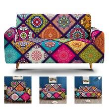 Sofa-Cover-Set Couch Living-Room Corner-Armrest-Case Stretch Boho Elastic 3D Spandex