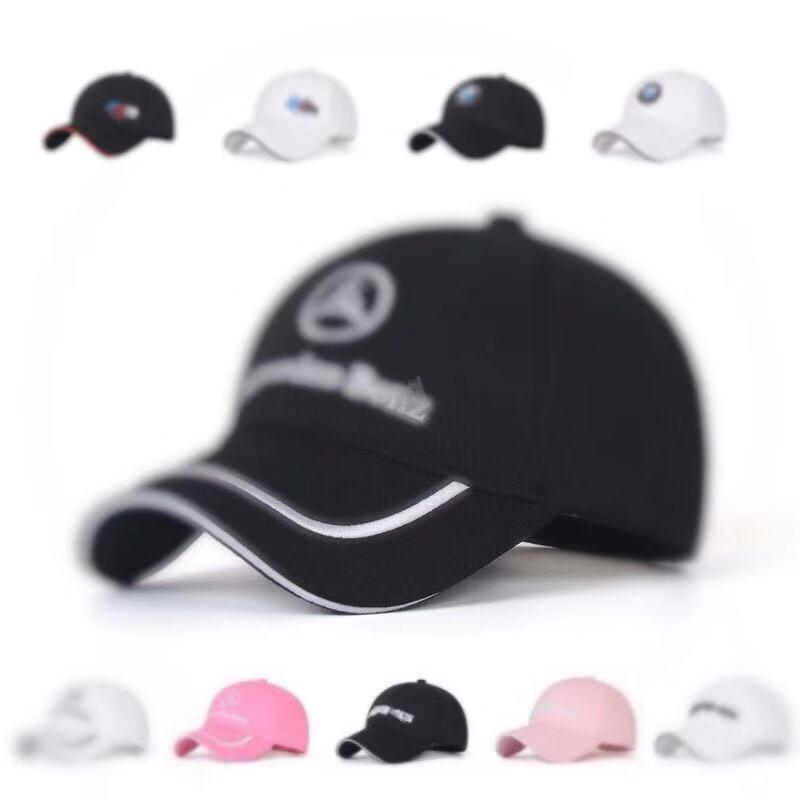 Cotton Hat Baseball Hats Caps Men Peaked Cap For Bmw Mercedes Benz Logo Sunhat Car Performance Adjustable Hat Summer For Women