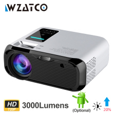 WZATCO E500 720P HD Projector 1280*800 3500lumens HDMI Home Theatre Android 9.0