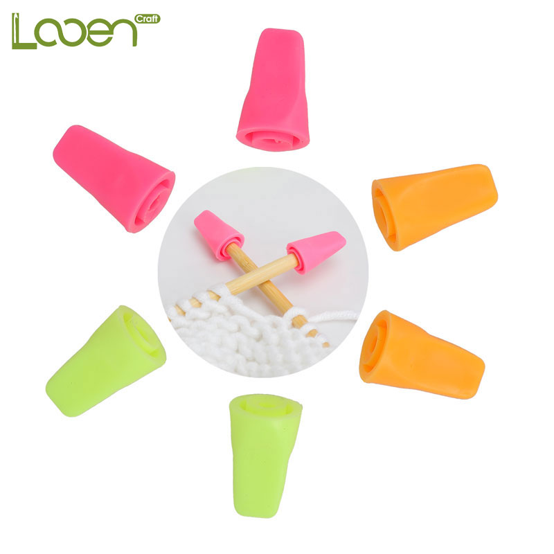 Looen 6pcs/lot Knitting Needles Tip Stopper For Knitting And Sewing Protectors Weave Needle Arts Craft Sewing Tools Accessories