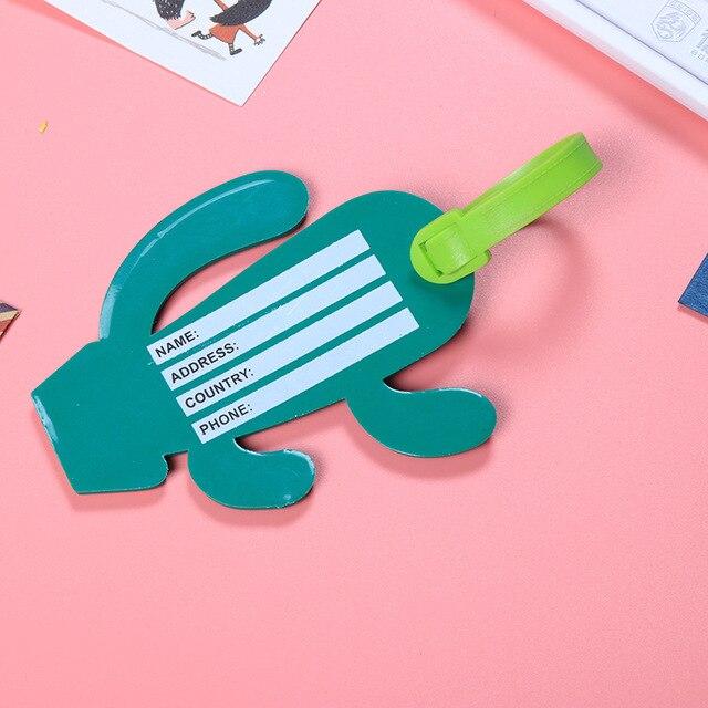 Мультфильм ананас кактус пончик багажная бирка для женщин и мужчин чемодан сумка Украшение ID карты имя держатель адрес партия Сувениры подарки для детей