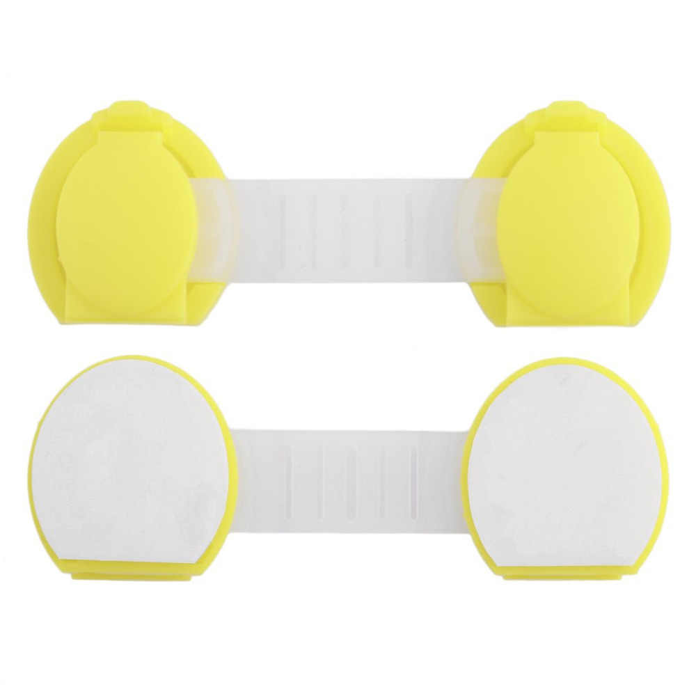 1PC Kids Baby Care Safety Locks Cabinet Door Drawers Refrigerator Toilet Blockers Safety Plastic Children Protection Lock Hot