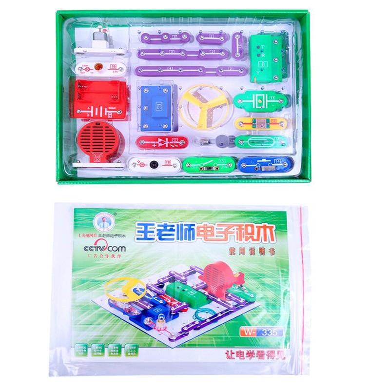 2020 Electronics Discovery Kit Smart Electronics Block Kit Educational Science Kit Toy DIY Building Blocks Electric Circuits Kit