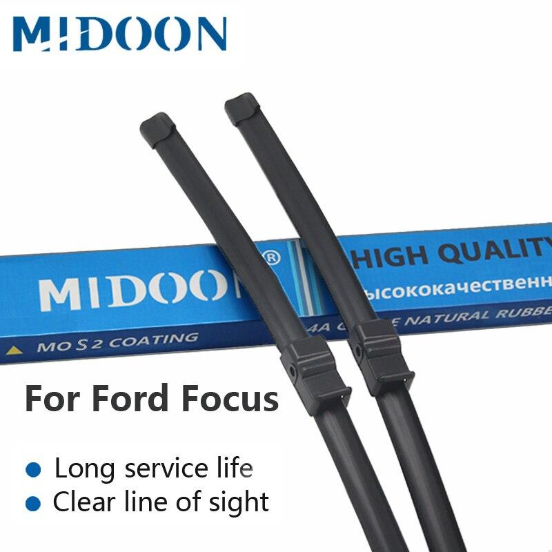 Limpadores de Párabrisas MIDOON 2 MK2 S530 limpa Lâminas Para Ford Focus 2004 2005 2006 2007 2008 2010 2011 Carro acessórios