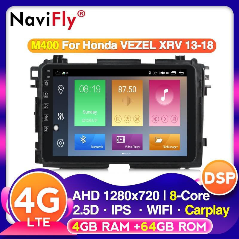 Android10 DSP IPS 4G RAM 64G ROM 4G LASSEN SIE Für HONDA XRV Vezel XRV Vezel HRV 2013 ~ 2018 auto radio autoradio RDS wifi BT carplay dvr