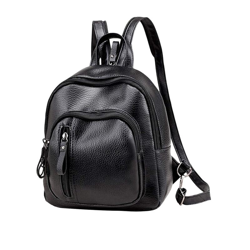 Mini Backpack, Classic Leather Travel Daypack Shoulder Bag For Women Girls