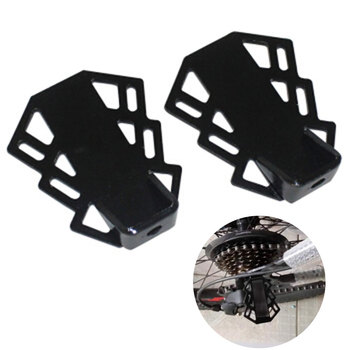 1 Pair Non-Slip Riding Axle Foot Pegs Rear Seat Cycling Stand Mountain Bike Bicycle Pedal Safety Folding Saving Space Metal image