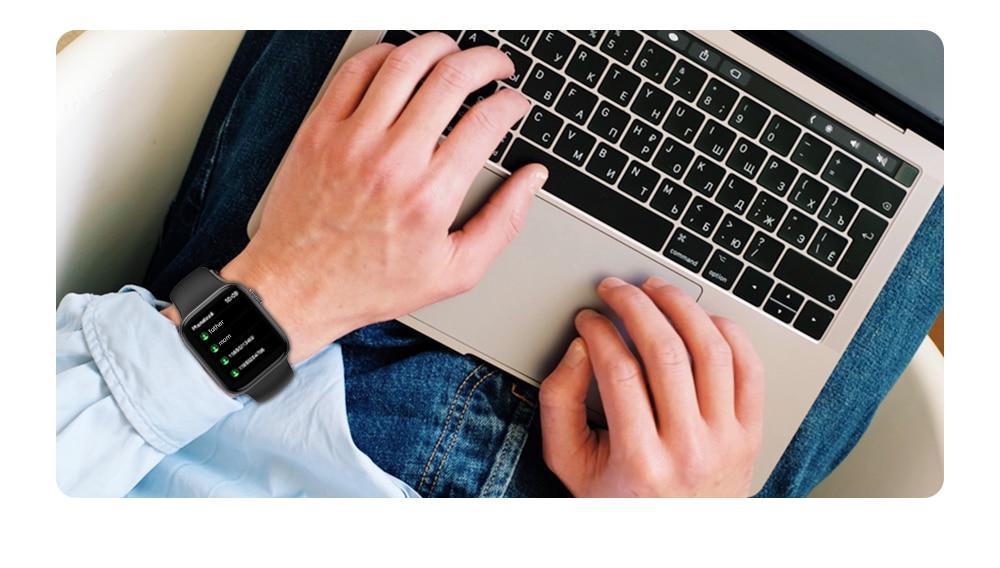 He034bd1547a04b39aedc8112c83f5c27R IWO 13 Pro T800 Smartwatch 2021 1.72 Inch Bluetooth Call DIY Dail Fitness Bracelet Smart Watch Men Women PK IWO W46 W56 Series 6