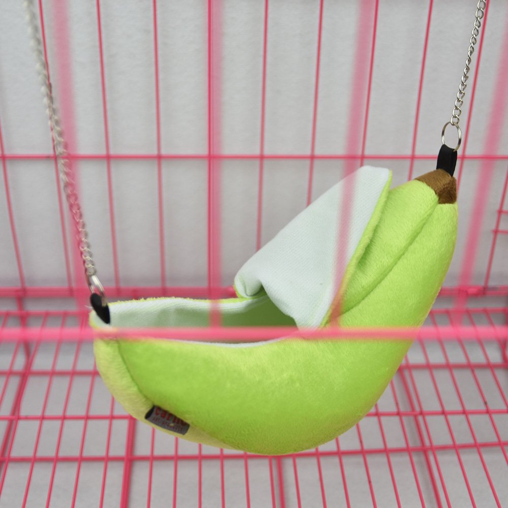 Banana Hamster Rat Bed Hanging House Hammock Bunk Bed House Toys Cage For Sugar Glider Hamster Small Animal Bird Pet Supplies