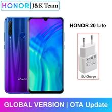Honor 20 Lite 4Gb 128Gb Global Versie Ai Triple Lens Camera 6.21 Inch Fhd + Vingerafdruk Gezicht unlock