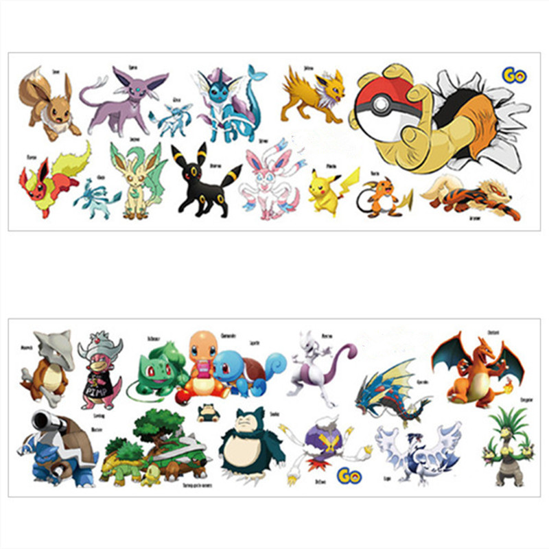 Pokemon 3D Sticker 10 Packs of Stickers US Seller Pickachu Charizard New