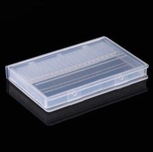 Image 3 - ברור פלסטיק נייל מקדחי אחסון תיבת תצוגת Stand 20 חריצים 14 חריצים ארגונית מקרה מיכל מקצועי מניקור כלים