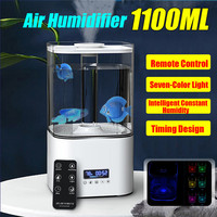Portable 1100ml Humidifier Home Smart Ultrasonic Humidifier 4 layer Purification Dust Filter Air Humidifier With Conversion Plug