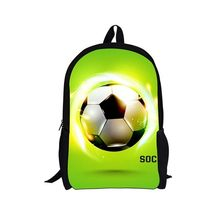 Custom pattern Sports ball backpack For Teenagers Kids Boys Children Student School Bags Unisex Laptop backpack Travel Bag(China)