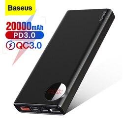 Baseus 20000mAh Power Bank szybkie ładowanie 3.0 rodzaj usb C PD Powerbank zewnętrzna ładowarka usb Poverbank dla iPhone Xiaomi Huawei w Powerbank od Telefony komórkowe i telekomunikacja na