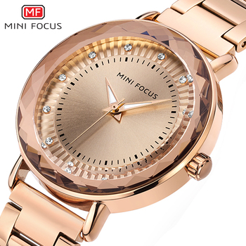 MINIFOCUS Fashion Golden Watches Women Quartz Watches Ladies Top Brand Luxury Female Wrist Watch Girl Clock Relogio Feminino