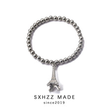SXHZZ Elegant Pearl Bracelet for Women Effiel Tower Pendant Charm Multilayer Female Bracelets Jewelry wholesale Vintage