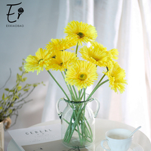 Erxiaobao 10 Pieces/Lot Barberton Daisy Gerbera Jamesonii Bolus African Chrysanthemum Artificial Flowers Home Decoration