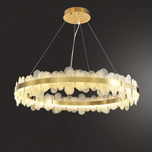 Chandelier-Lighting Lampen Postmodern Lustre-Suspension LED Dinning-Room Golden-Designer