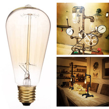 E27 60W ST64 Screw Vintage Light Bulb Incandescent Edison old fashioned Style Squirrel Cage 110V 220V Novelty Lighting Gift cheap ACCHAMP 28291 Glass LED Bulbs