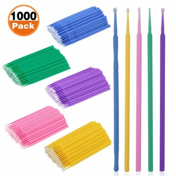 500 1000pcs makijaż rzęsy Microbrushes jednorazowe Cilios narzędzia do rozszerzania rzęs pojedyncze rzęsy czyszczenie kosmetyczne wacik tanie i dobre opinie Przedłużanie rzęs CN (pochodzenie) Inne 1 cm-1 5 cm Lip Brush Pełna strip lashes Grube Hand made 500 1000 pcs Fałszywe rzęs