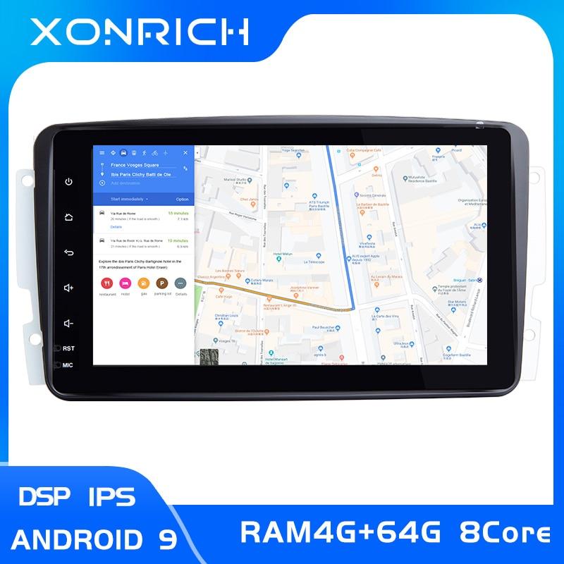Lecteur Multimeida de voiture d'ips DSP 2 din Android 9.0 pour Mercedes Benz CLK W209 W203 W463 W208 DVD GPS Naviagtion Radio stéréo4gb RAM