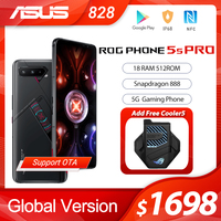 NEW ASUS ROG Phone 5s Pro Global Version Snapdragon888 18GB RAM 512GB ROM 6000mAh 65W NFC OTA Update Gaming Phone ROG5S  PRO 1