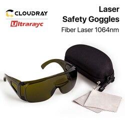 Ultrarayc 1064nm gogle ochronne styl B rozmiar lasera okulary ochronne 850-1300nm OD4 + CE do włókna maszyna laserowa