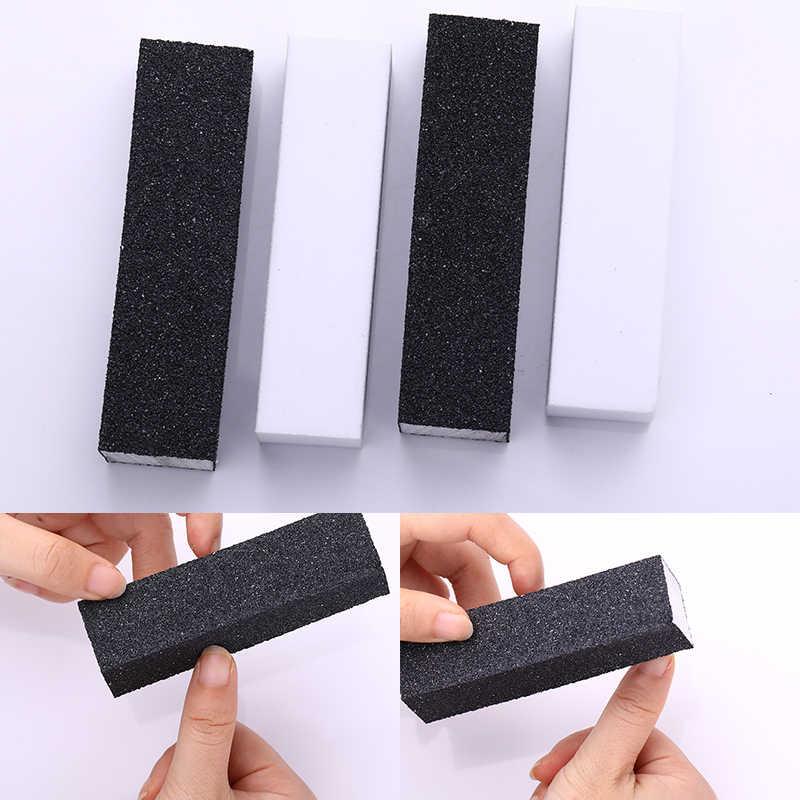 10 Buah/Set Hitam Putih Amplas Sponge Kuku File Blok Grinding Polishing Kuku Seni Alat Set Manikur Pedikur Kuku Alat