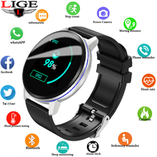 LIGE Smart Watch Men Women Waterproof Fitness Tracker Heart rate blood Pressure Monitor Pedometer Sport Bracelet For Android ios lige smart wristband men women sport bracelet blood pressure heart rate monitor pedometer waterproof smart watch for andrdid ios