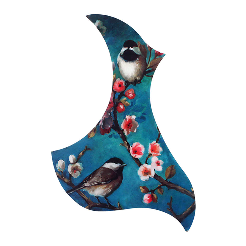 Acoustic Guitar Pickguard Scratch Plate Parts Flower and Bird Painting