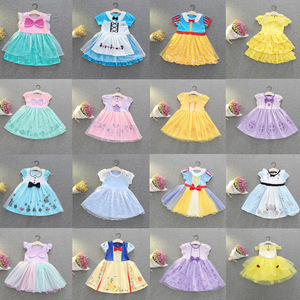 Little Girls Dresses 2019 Mermaid Alice Cinderella Snow White Princess Halloween Cosplay Costume Stage Show Party Dress 2-6Yrs(China)