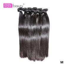 Atacado pacotes de cabelo reto brasileiro pacotes de cabelo humano longo 30 32 24 36 38 polegada tecer feixes de cabelo humano cor natural