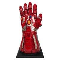 Marvel Legends Avengers Endgame 1/1 Iron Man Thanos Action Figure MK85 Pvc 44cm Movie Model Collection Toys Infinity Gems Gloves