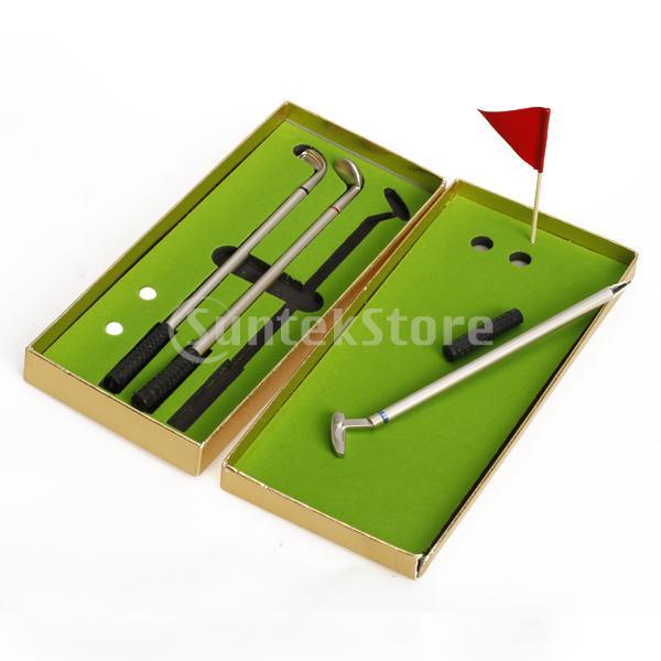 Golfer Replica Aluminum Alloy Ballpoint Golf Club Pen Ballpoint Pen (3-Piece) Mini Golf Play Golf Gift