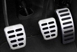 Image 4 - Edelstahl Auto pedal Abdeckung Für Volkswagen VW Ibiza 6K 6L 6J Skoda Fabia Polo 9N 6R Bora Golf MK4 IV Kupplung Gas bremspedale Pads