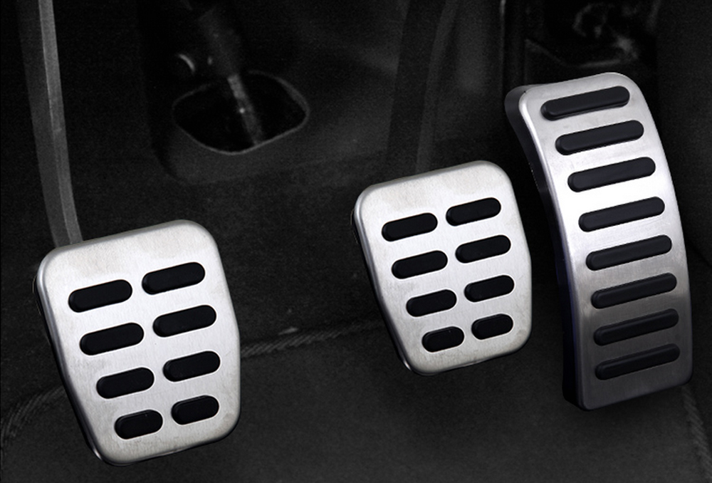 Image 4 - Stainless Car pedal Cover For Volkswagen VW Ibiza 6K 6L 6J Skoda Fabia Polo 9N 6R Bora Golf MK4 IV Clutch Gas Brake pedals Pads-in Pedals from Automobiles & Motorcycles