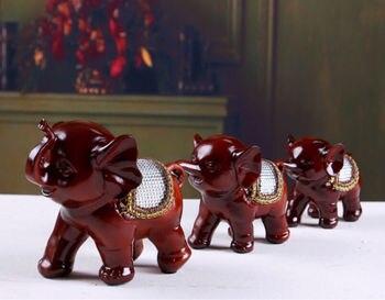 ANGRLY Resin crafts Elephant Diamond Recruit money elephant Mascot Home Furnishing Wedding decoration christmas hatchimals
