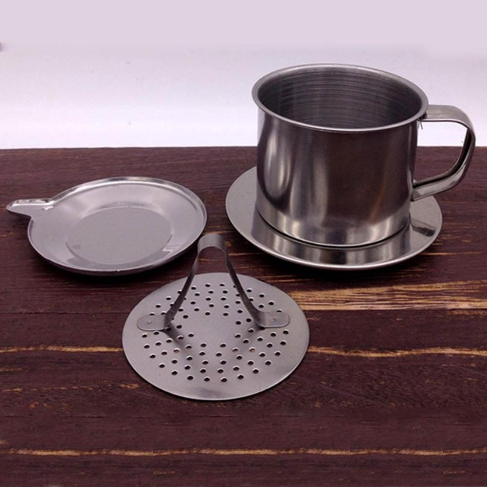 50/100ml <font><b>Vietnam</b></font> Style Stainless Steel <font><b>Coffee</b></font> Drip Filter <font><b>Maker</b></font> Pot Infuse Cup Portable home office travel camping Durable image