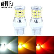 2x t20 7443 lâmpada led w21/5w 5w carro lâmpada led sinal de volta freio fonte de luz estacionamento luzes diurnas âmbar/vermelho/branco