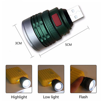 USB Handy Powerful LED Flashlight Portable Mini Zoomable 3 Modes Pocket Torch Lamp Lanterna Lighitng For Hunting Camping