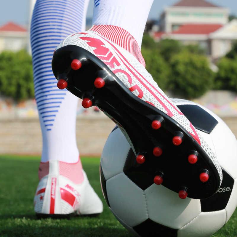 Hohe fußball stiefel stollen männer fußball schuhe turnschuhe indoor rasen superfly futsal NEUE 2019 ursprüngliche fußball stiefel knöchel