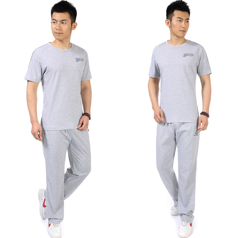 Middle-aged Sports Clothing Set Short Sleeve Trousers Large Size Casual Daddy Clothes Jogging Suits Two-Piece Set Men's