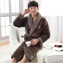 Winter Thick Men's Bath Robes Homewear Sleepwear lounges Pajamas Kimono 3layers  1.8kg