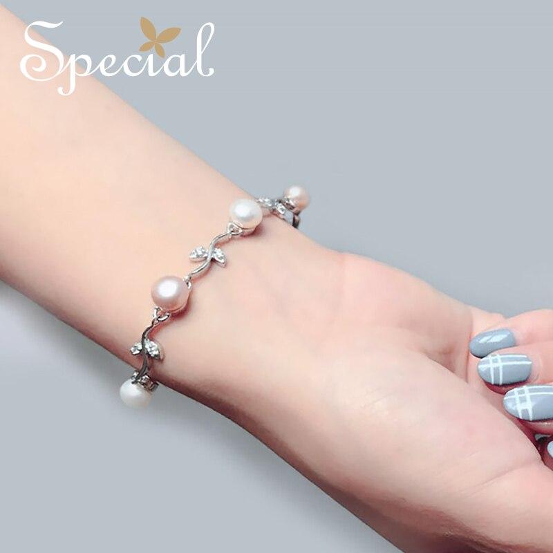 Bracelets et Bracelets en perles naturelles de marque spéciale 925 Bracelets en argent Sterling avec breloques pour femmes SL12A1120