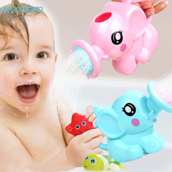 WARMOM Kids Bath Toy Cartoon Cute Elephant Beach Toys Swimming Pool Toys Baby Shower Watering Can Maternal Baby Stuff Supply